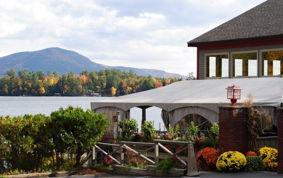 The Algonquin waterfront restaurant on Lake George in Fall