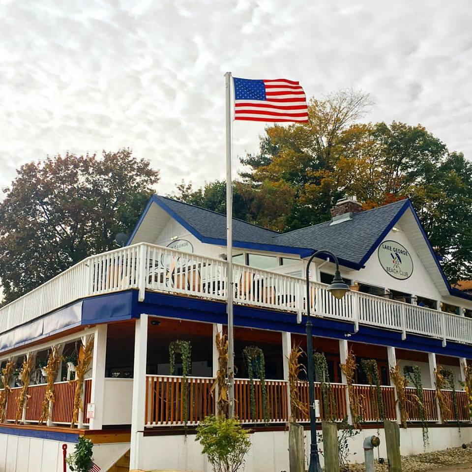 Lake George Beach Club in Fall
