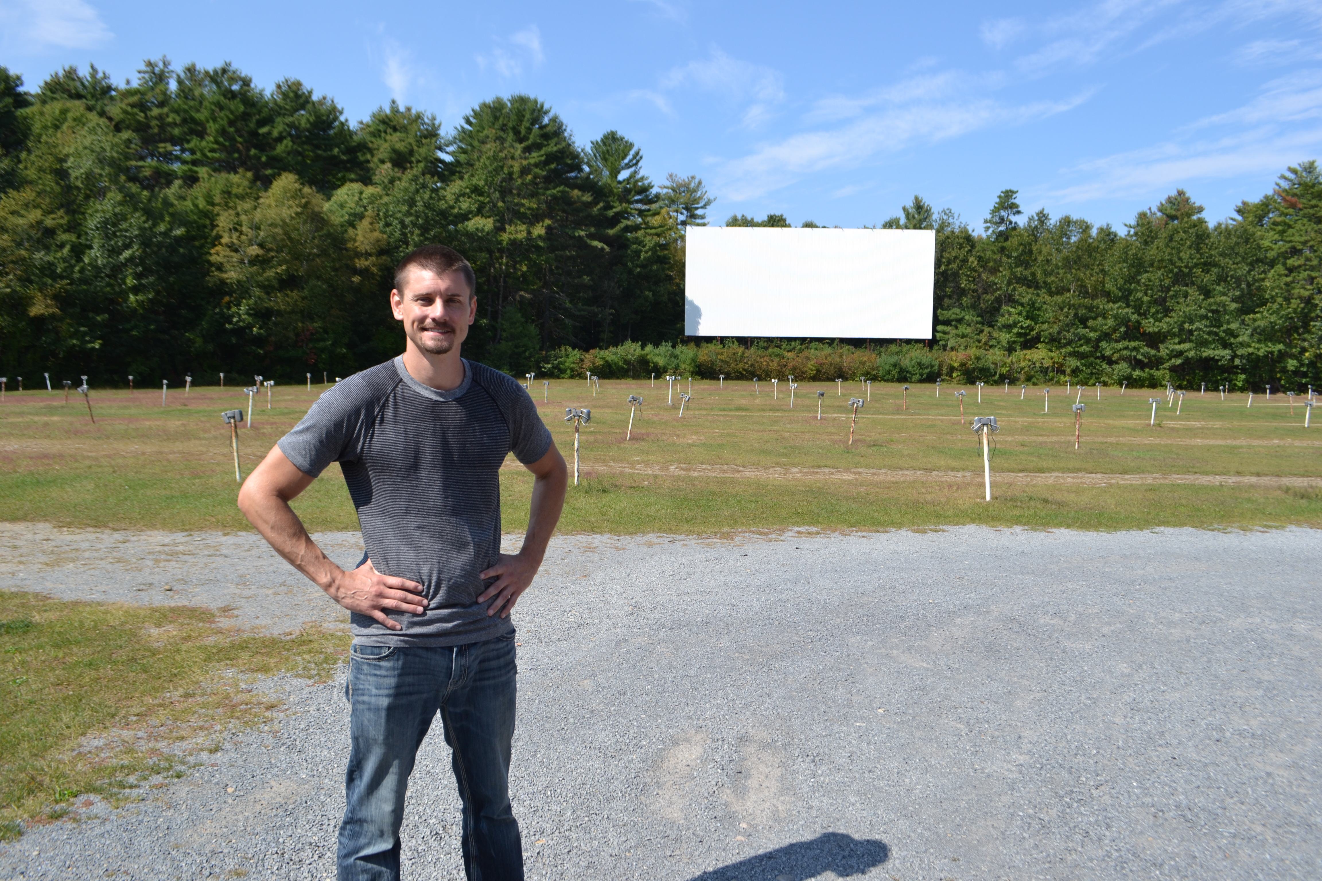 Brett at the Glen Drive-In Theater