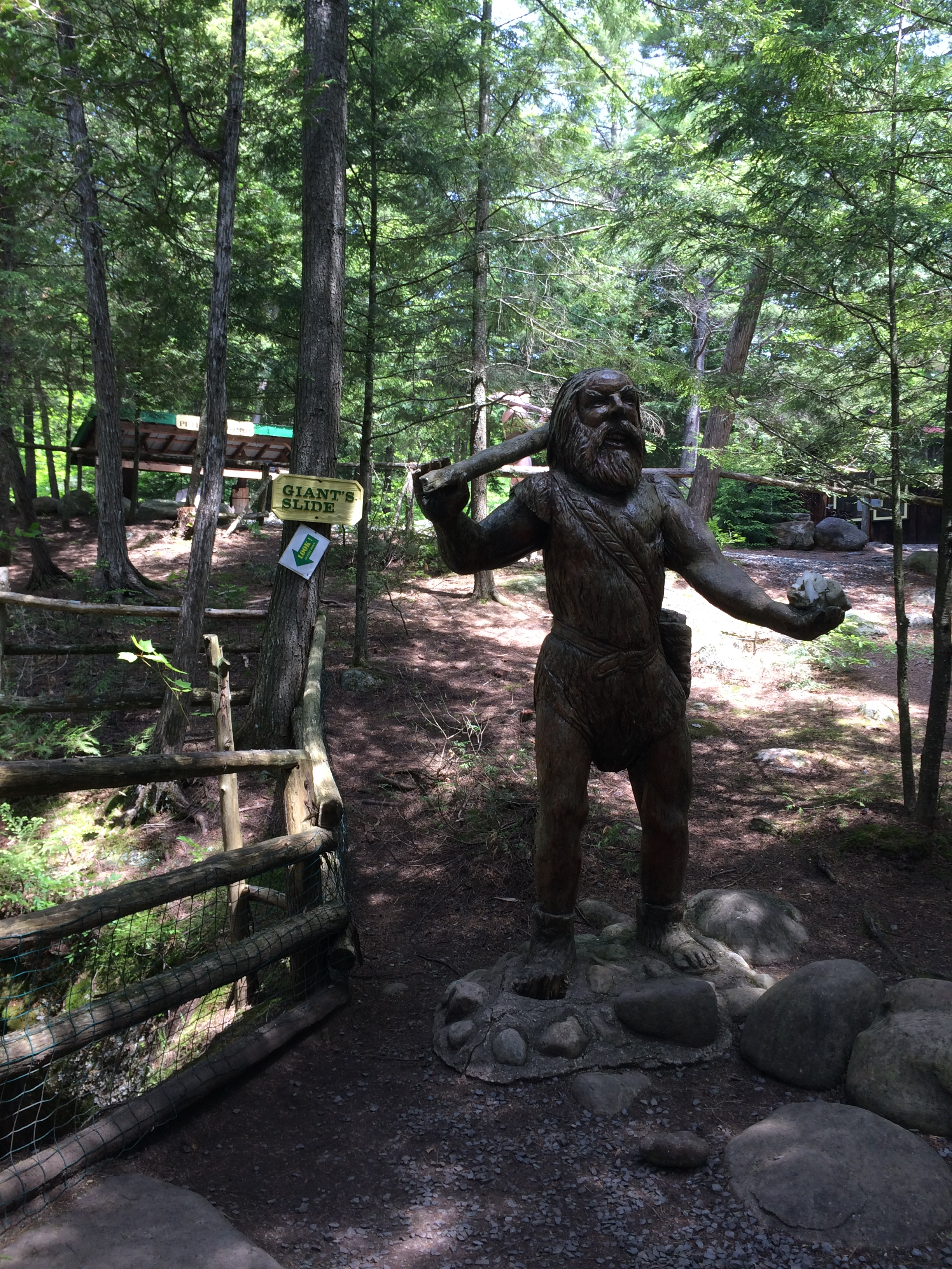 the Giant at Natural Stone Bridge & Caves