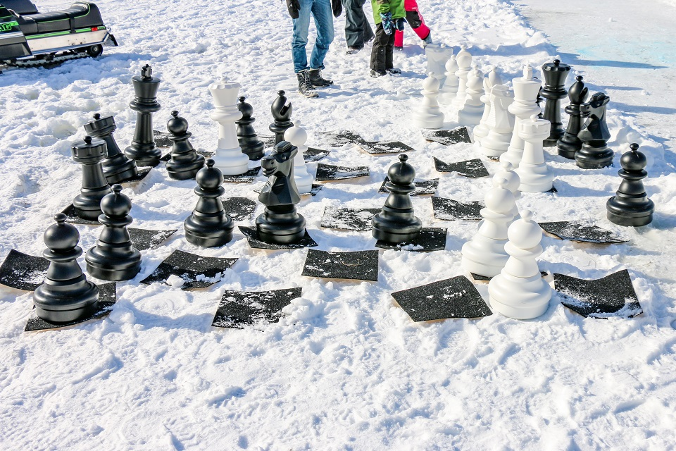 Chess at the Brant Lake Winter Carnival