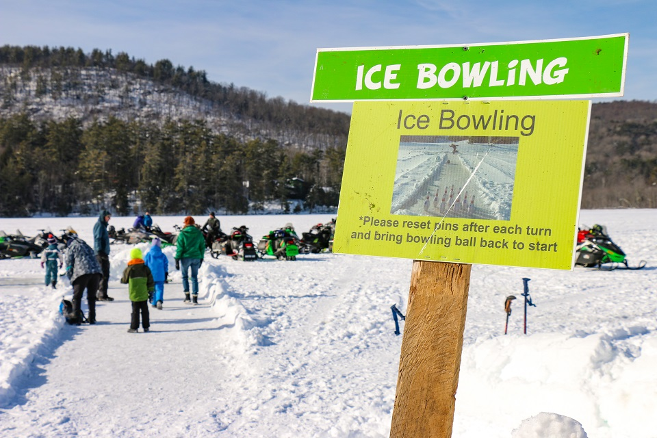 Ice Bowling at the Brant Lake Winter Carnival