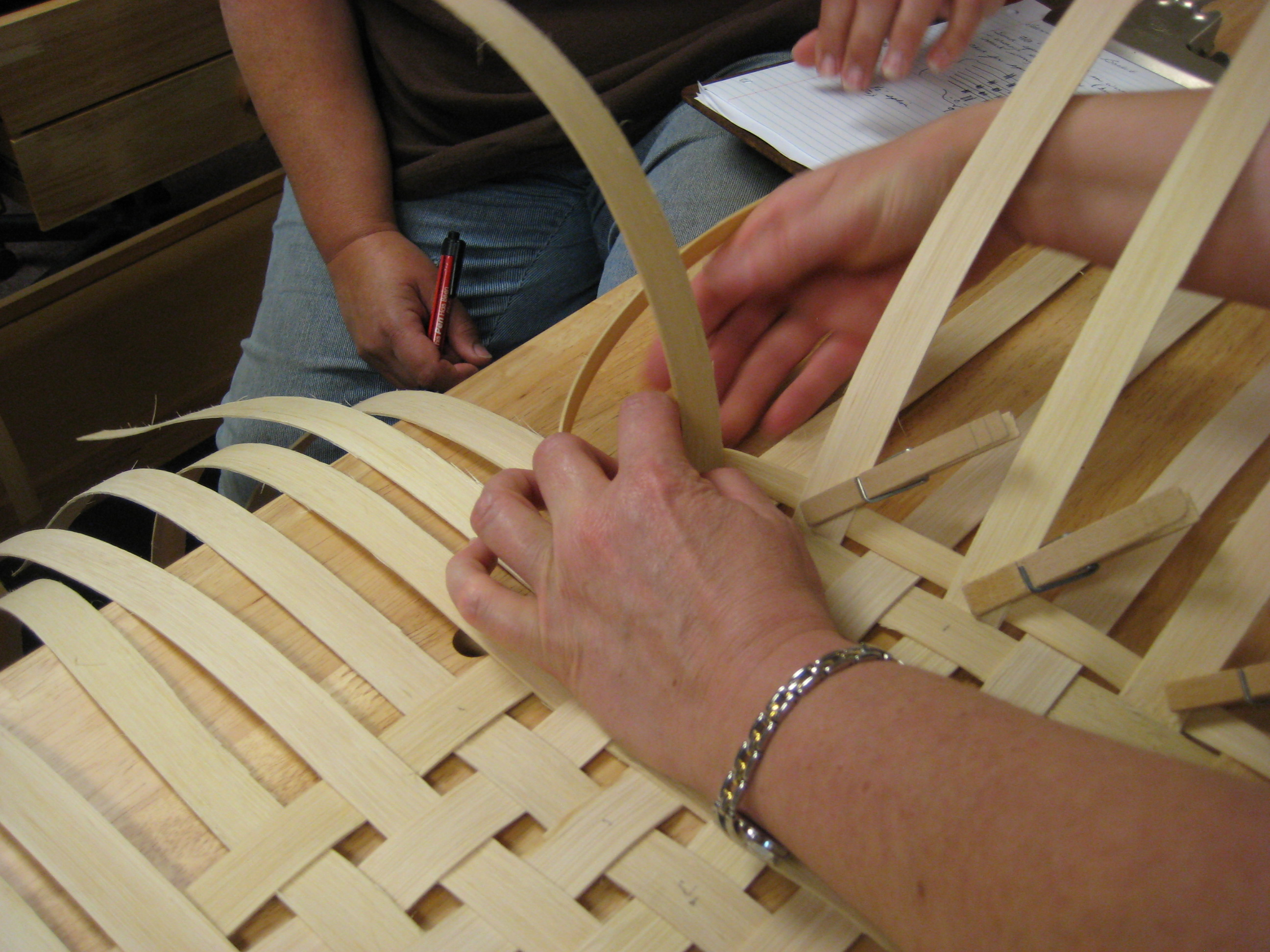 Adirondack Folk School Basket Weaving