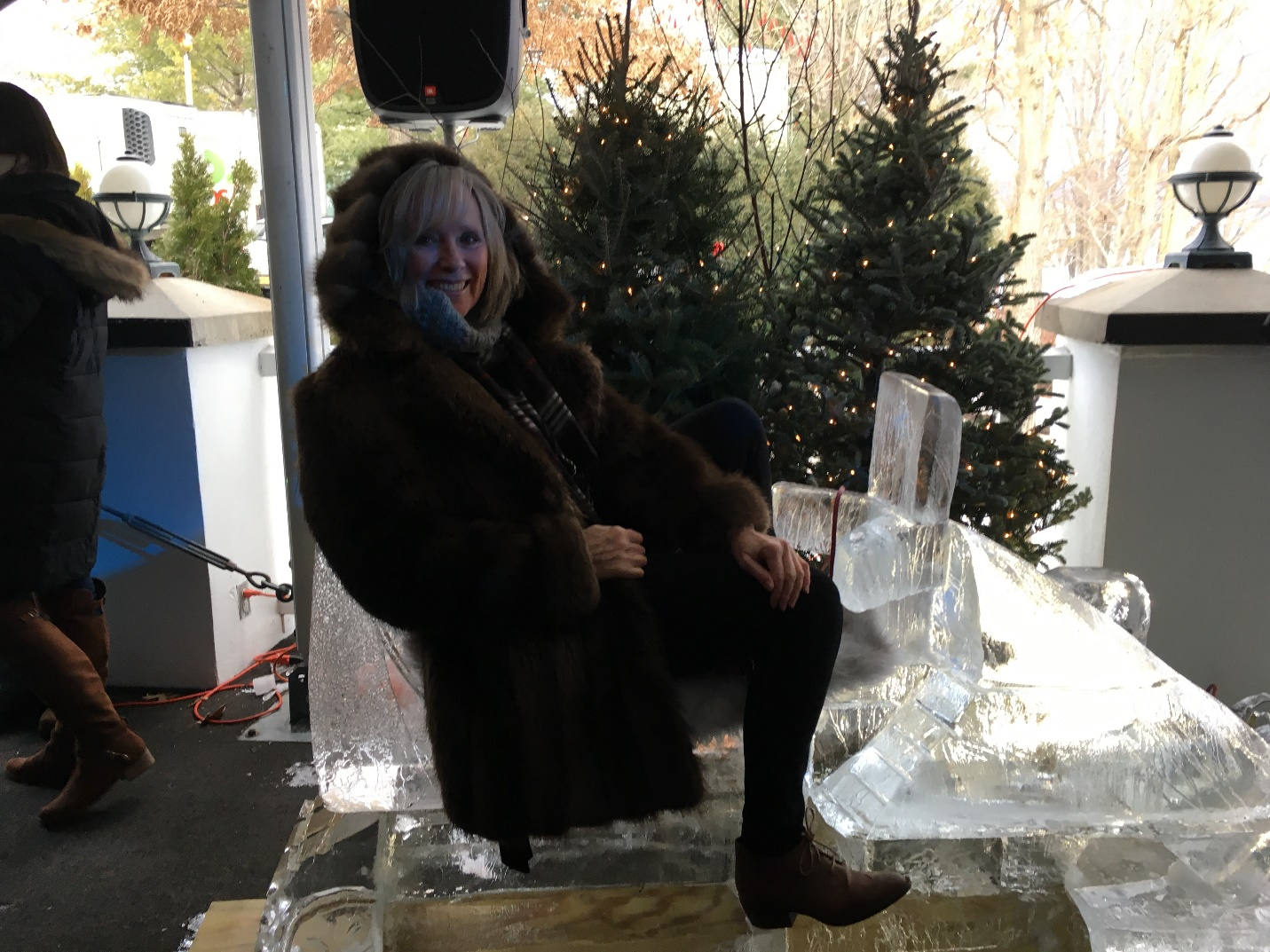 Maureen at the Glacier Ice Bar & Lounge
