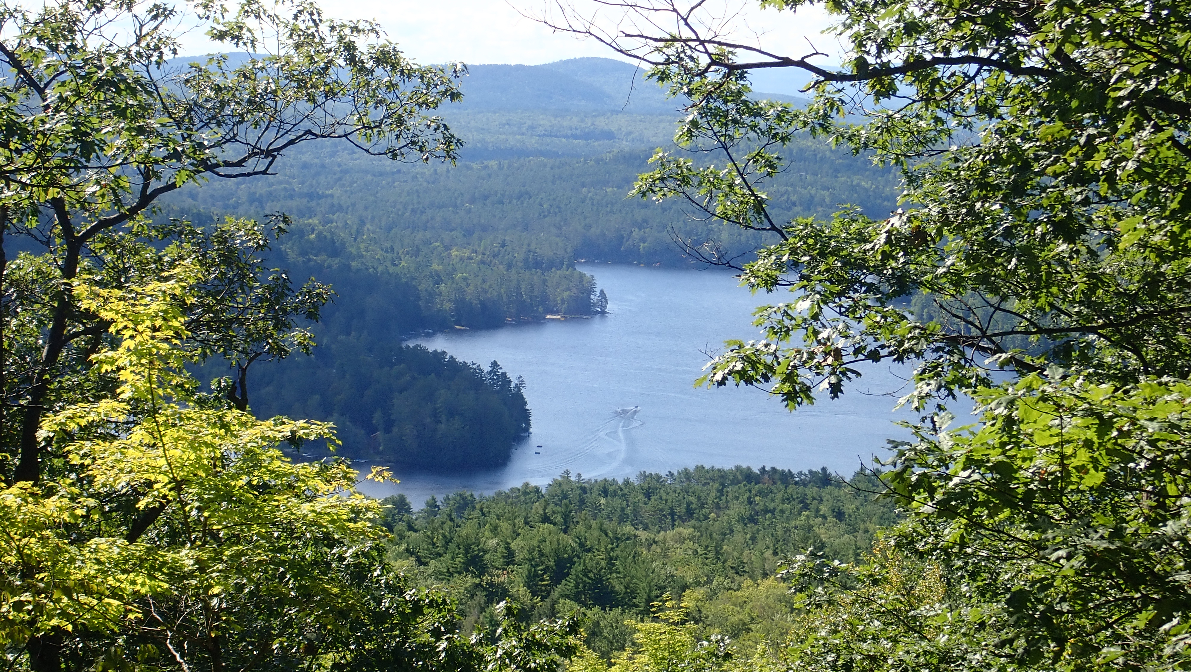 Boats on Loon Lake from Beckman Mountain