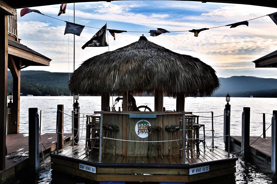 Tiki Tours docked on Lake George
