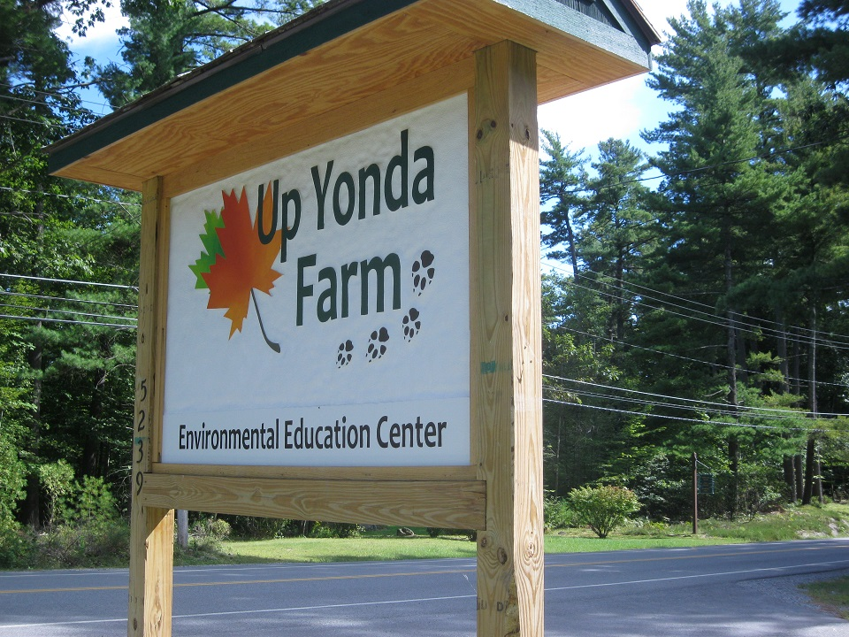 Up Yonda Farm sign