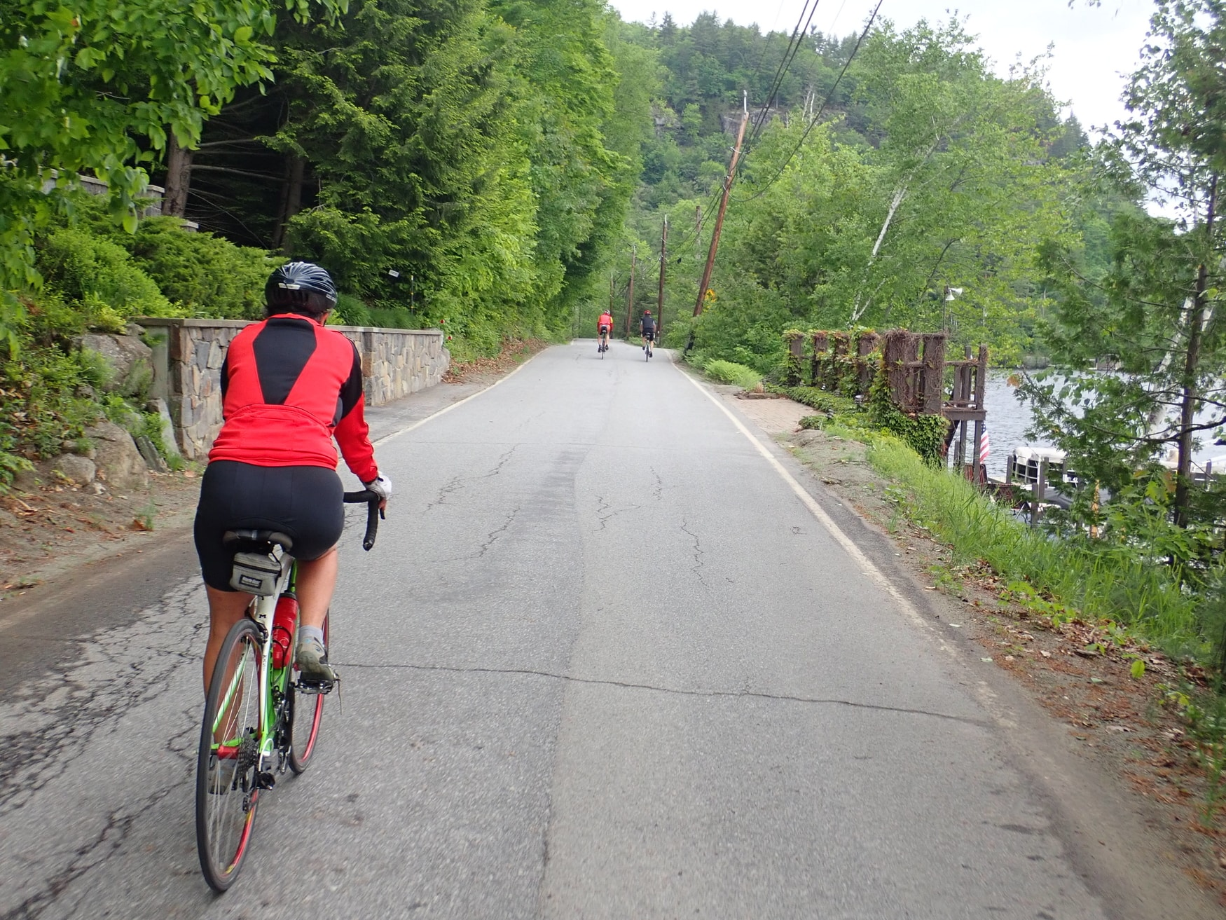Cyclist on Palisades Road