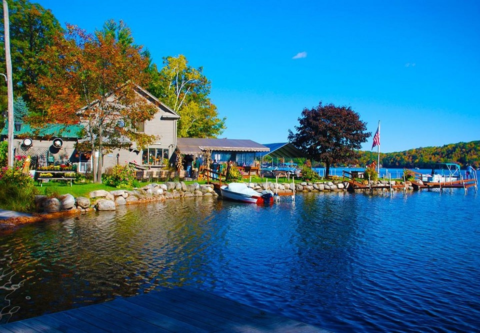 The Docksider on Glen Lake in the Fall