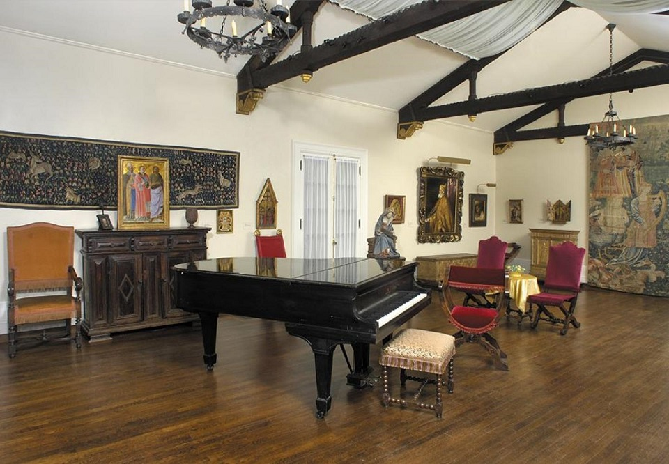 The Hyde Collection displaying a piano