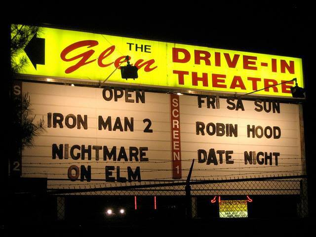 Glen Drive-In Theater sign