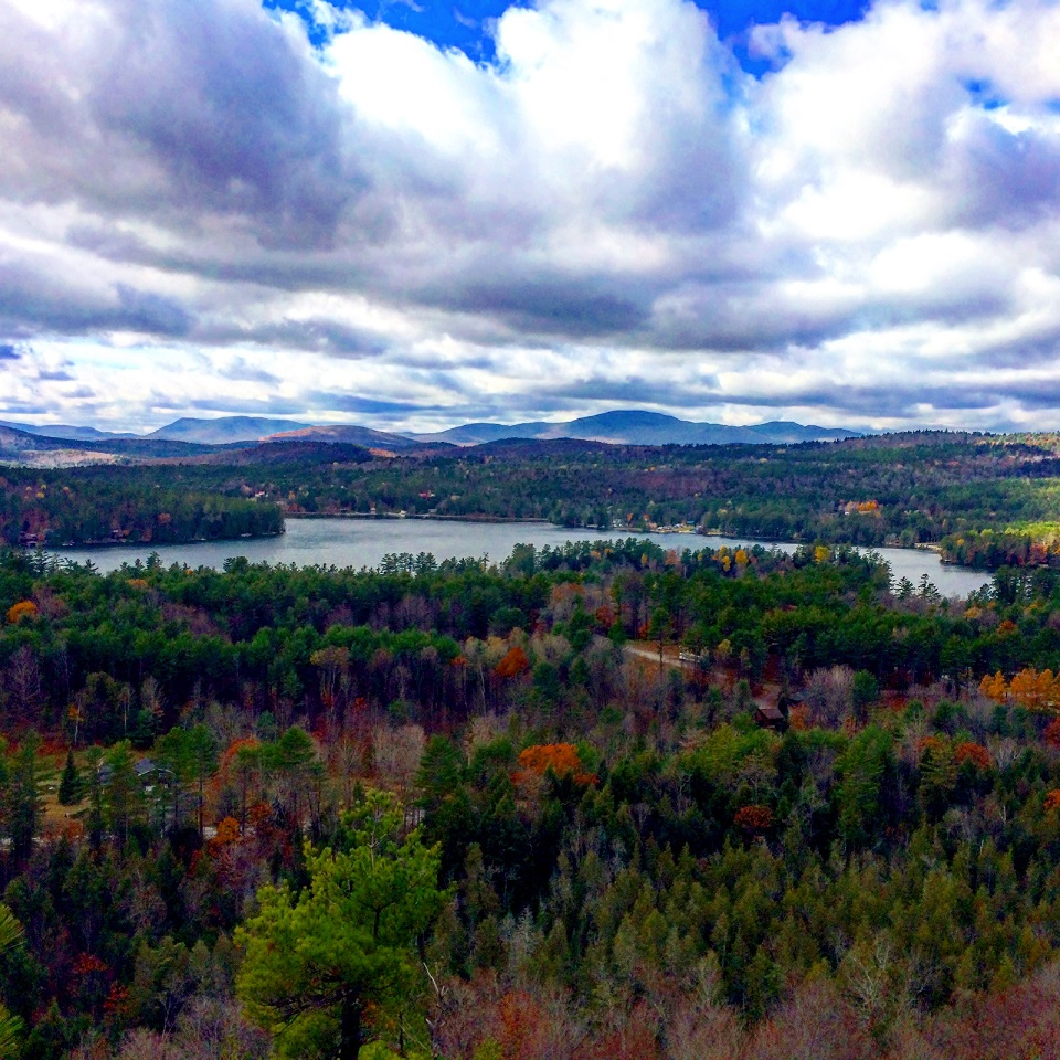 Stewart Mountain hiking trail in the fall