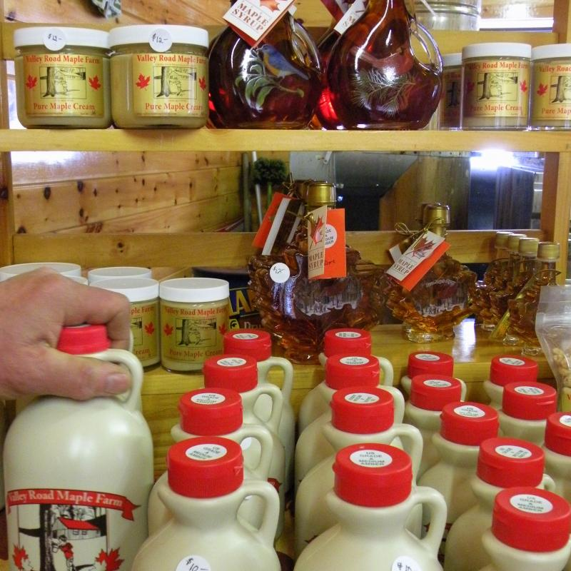 maple syrup and maple cream at Valley Road Maple Farm